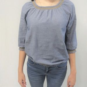 H & M Chambray Top